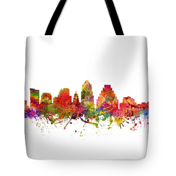 Austin Cityscape 08 Tote Bag by Aged Pixel