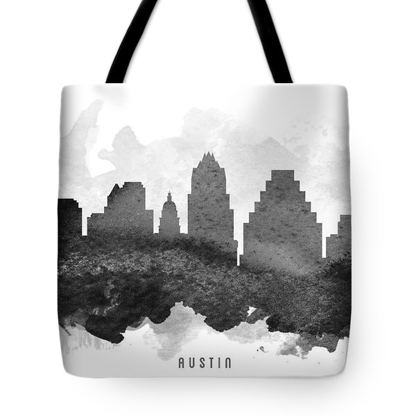 Austin Cityscape 11 Tote Bag by Aged Pixel