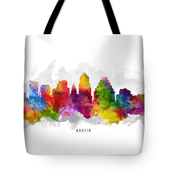 Austin Texas Cityscape 13 Tote Bag by Aged Pixel