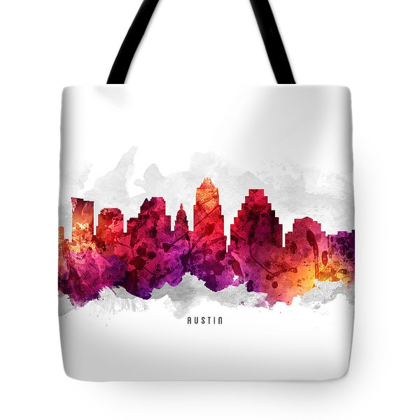 Austin Texas Cityscape 14 Tote Bag by Aged Pixel