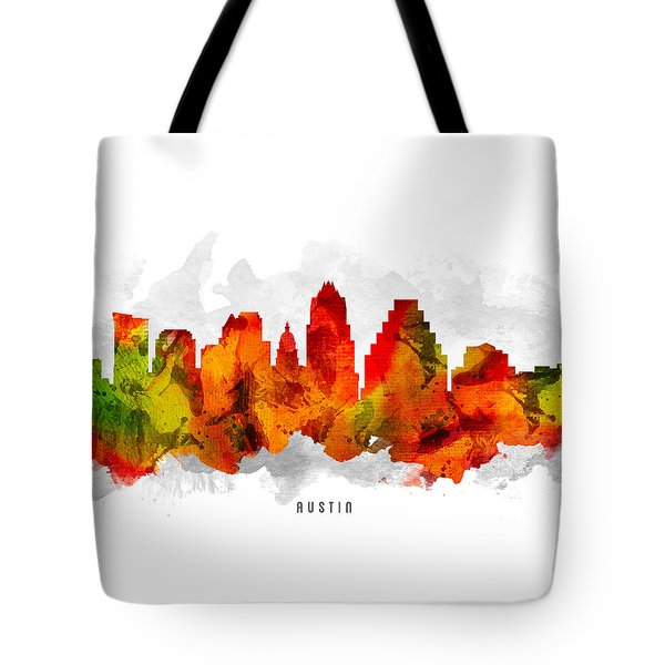 Austin Texas Cityscape 15 Tote Bag by Aged Pixel