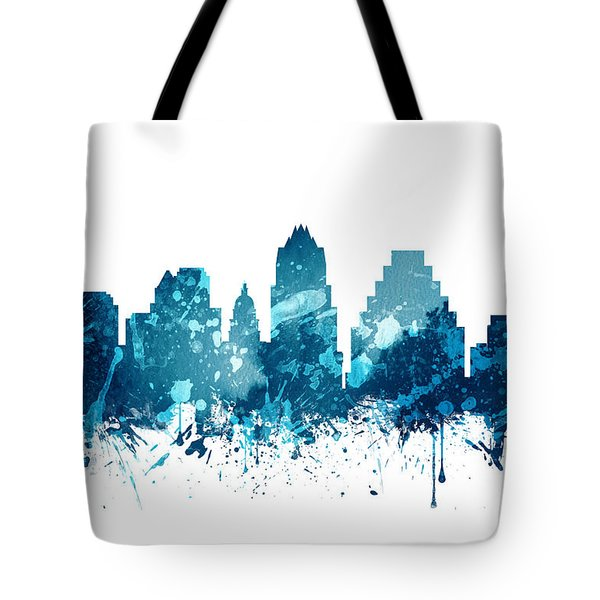 Austin Texas Skyline 19 Tote Bag by Aged Pixel