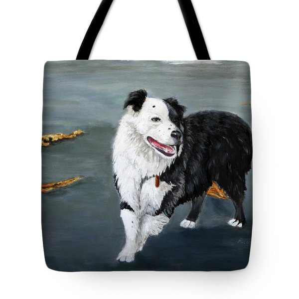 Australian Shepard Border Collie Tote Bag by Enzie Shahmiri