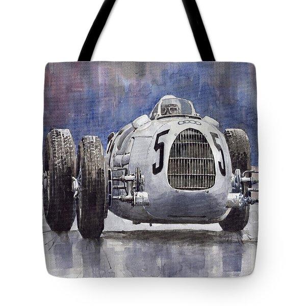 Auto-Union Type C 1936 Tote Bag by Yuriy  Shevchuk