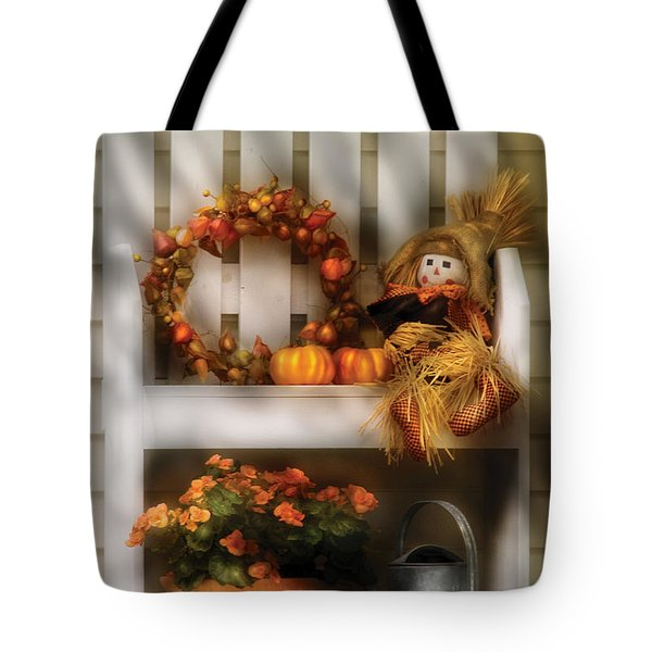 Autumn - Still Life - Symbols Of Autumn  Tote Bag by Mike Savad