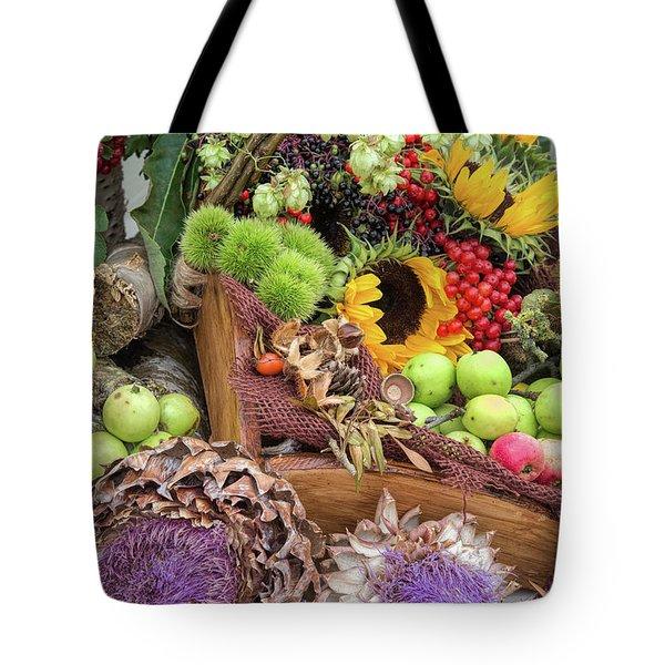 Autumn Abundance Tote Bag by Tim Gainey