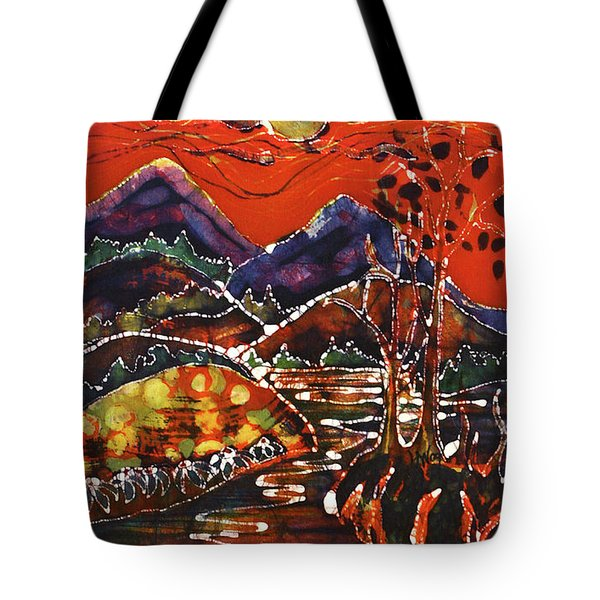 Autumn Adirondack Sunset Tote Bag by Carol Law Conklin