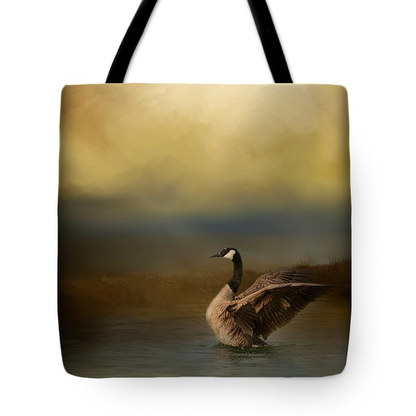 Autumn Afternoon Splash Tote Bag by Jai Johnson