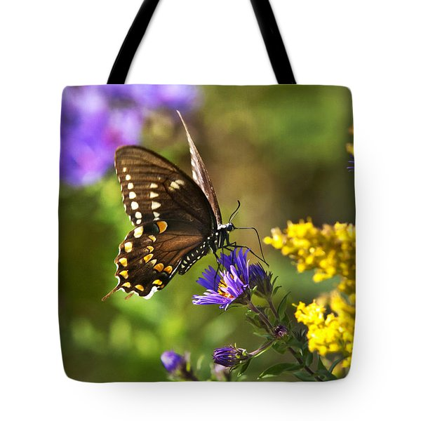 Autumn Garden Butterfly Tote Bag by Christina Rollo