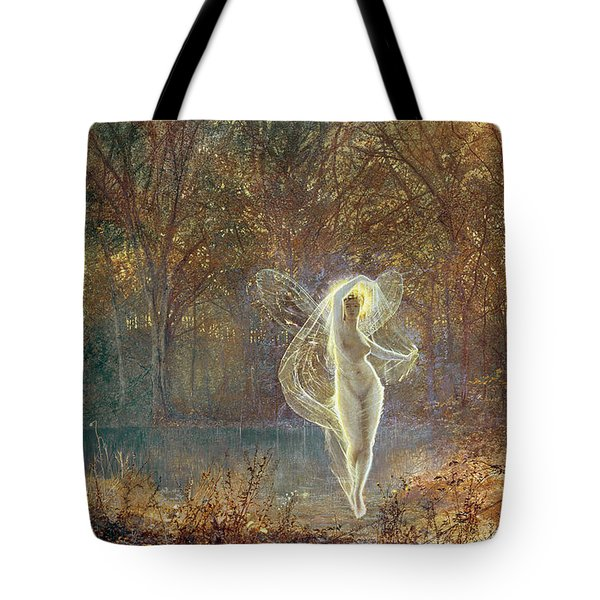 Autumn Tote Bag by John Atkinson Grimshaw