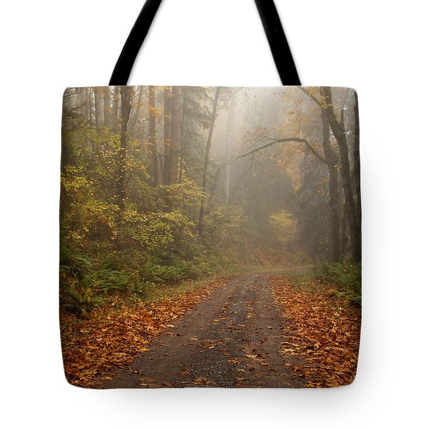 Autumn Lane Tote Bag by Mike  Dawson