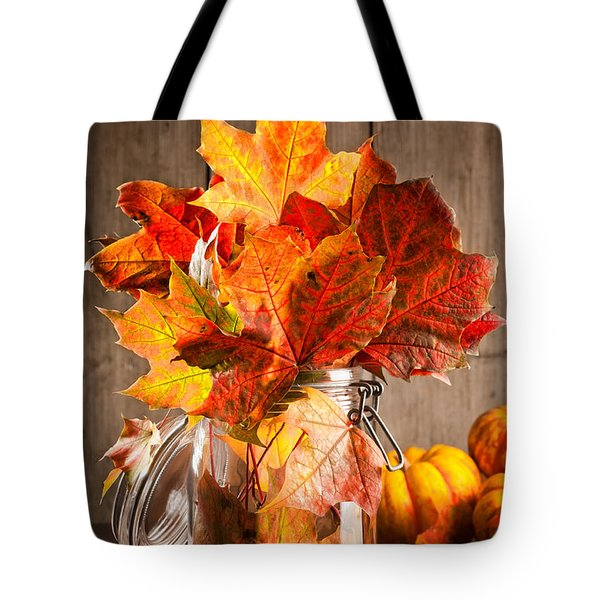 Autumn Leaves Still Life Tote Bag by Amanda And Christopher Elwell