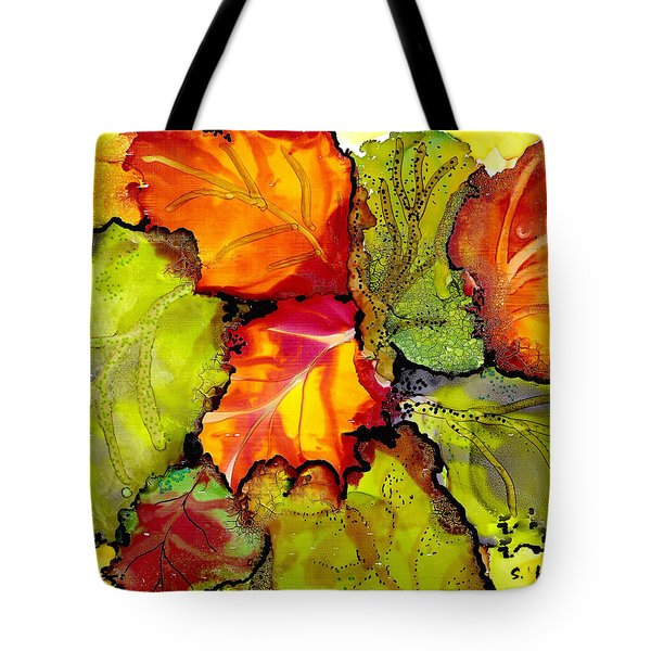Autumn Leaves Tote Bag by Susan Kubes