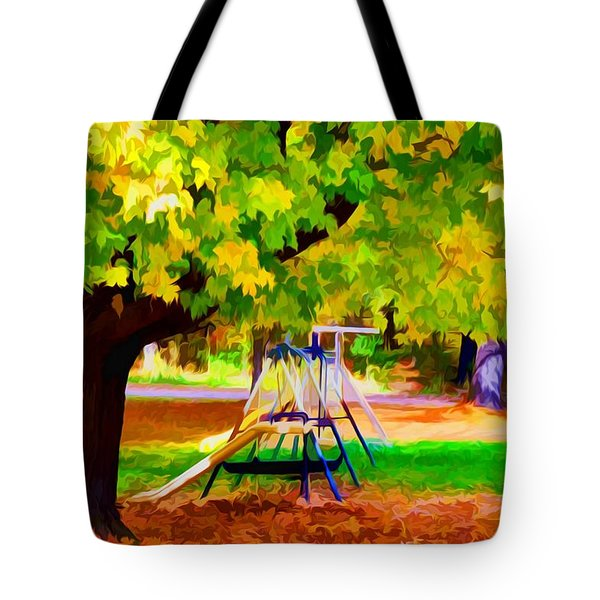 Autumn Playground 1 Tote Bag by Lanjee Chee