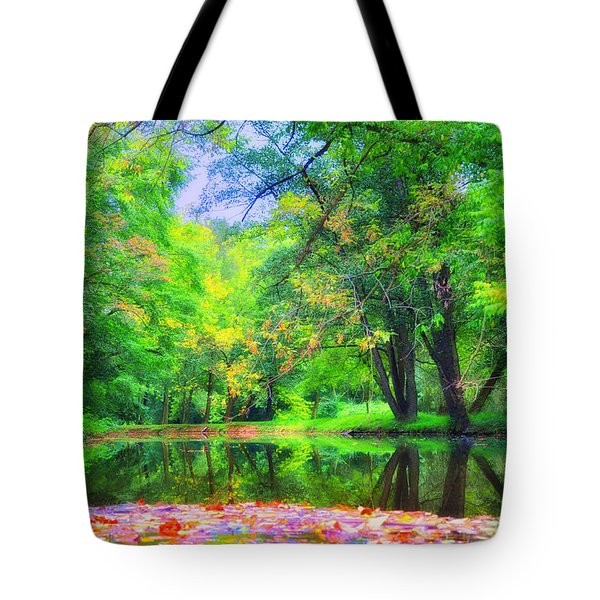 Autumn Pond in Gladwyne Tote Bag by Bill Cannon