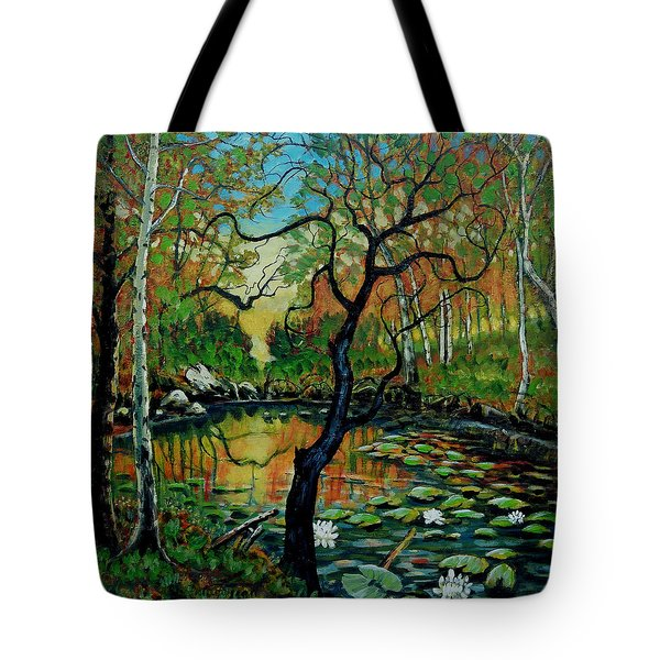 Autumn Reflections Tote Bag by Denis Grosjean