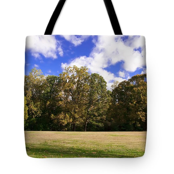 Autumn Skies Tote Bag by Bill Cannon
