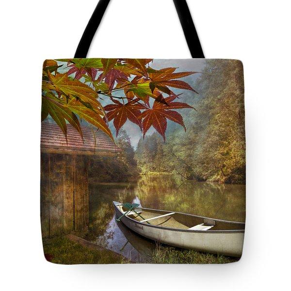 Autumn Souvenirs Tote Bag by Debra and Dave Vanderlaan