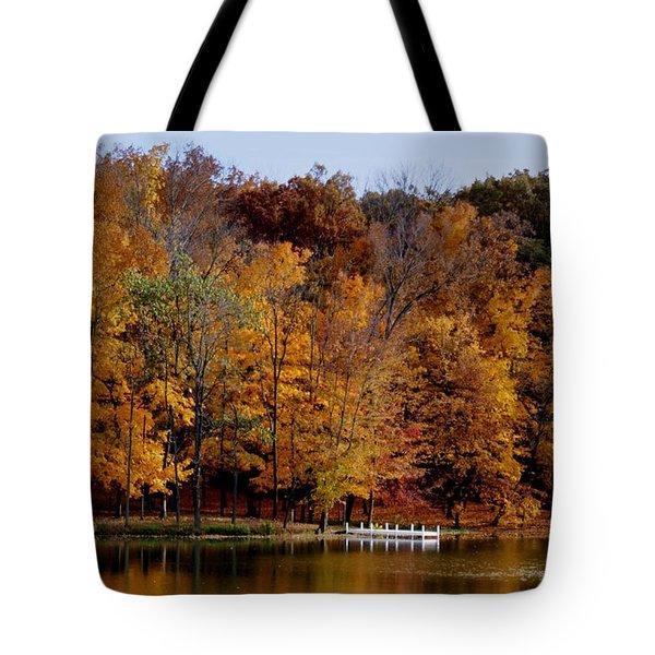Autumn Trees Tote Bag by Sandy Keeton
