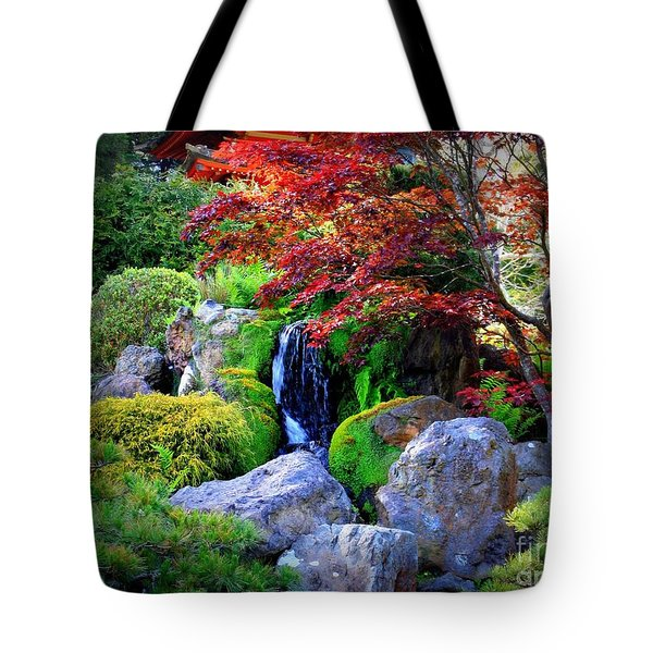 Autumn Waterfall Tote Bag by Carol Groenen