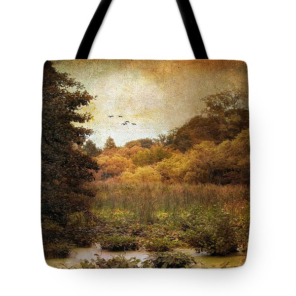 Autumn Wetlands Tote Bag by Jessica Jenney