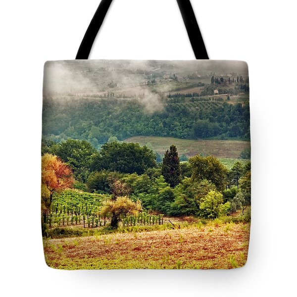 Autumnal Hills Tote Bag by Silvia Ganora