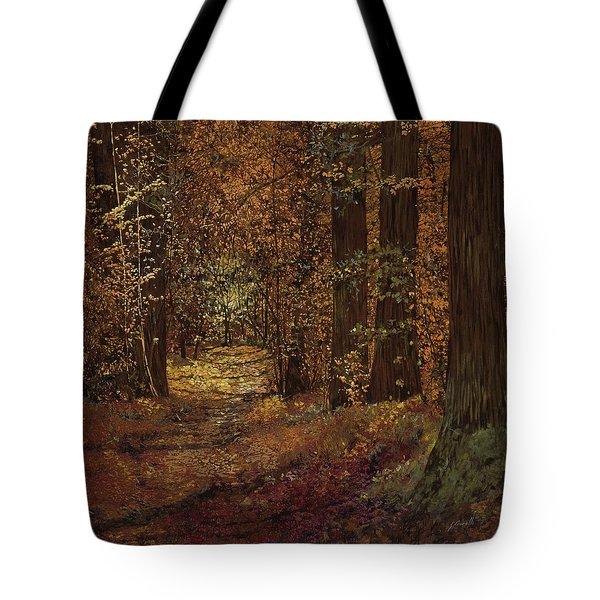 autunno nei boschi Tote Bag by Guido Borelli