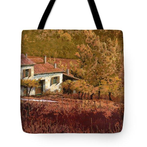 autunno rosso Tote Bag by Guido Borelli