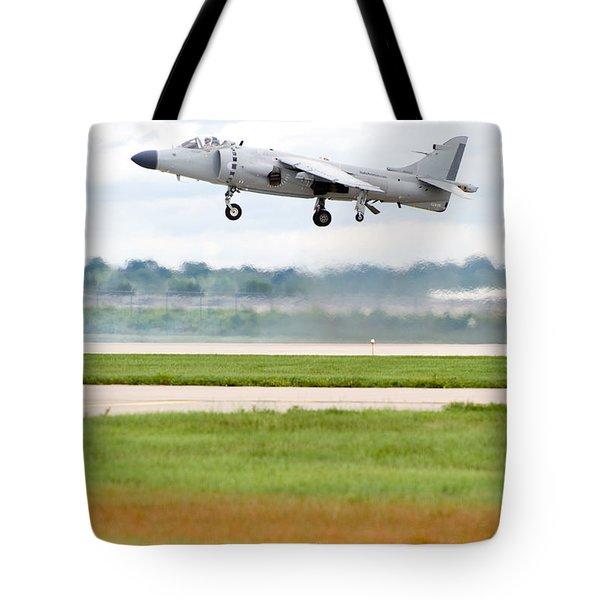 Av-8 Harrier Tote Bag by Sebastian Musial