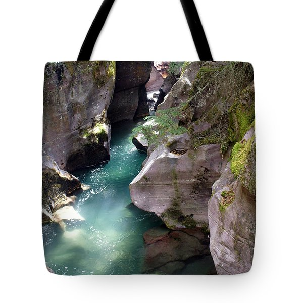 Avalanche Creek Glacier National Park Tote Bag by Marty Koch