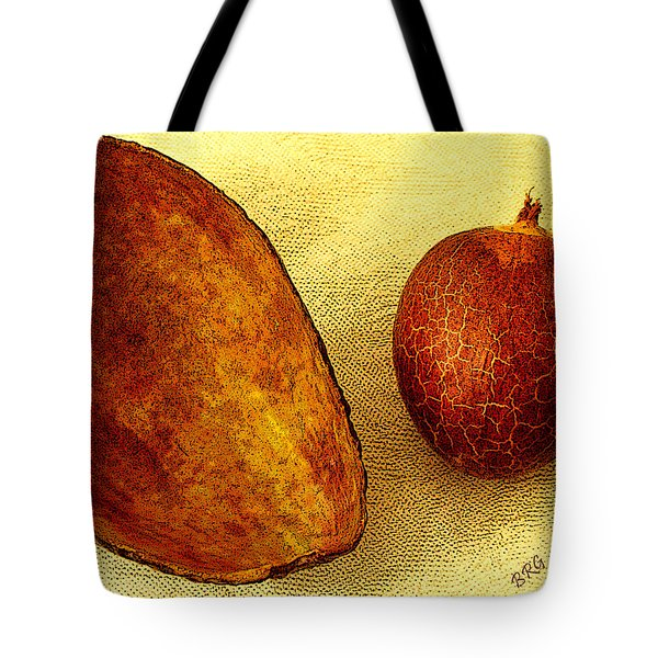 Avocado Seed And Skin II Tote Bag by Ben and Raisa Gertsberg