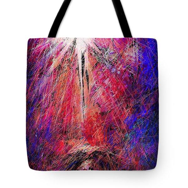 Away in a Manger Tote Bag by Rachel Christine Nowicki