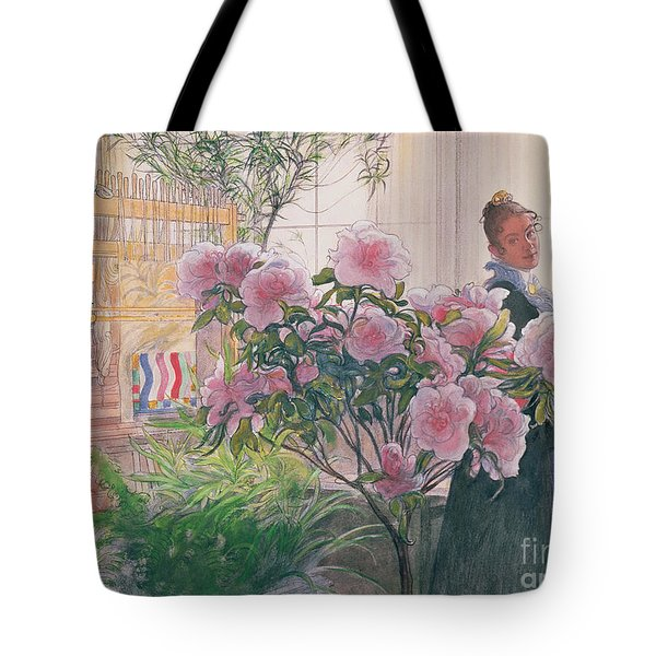 Azalea Tote Bag by Carl Larsson