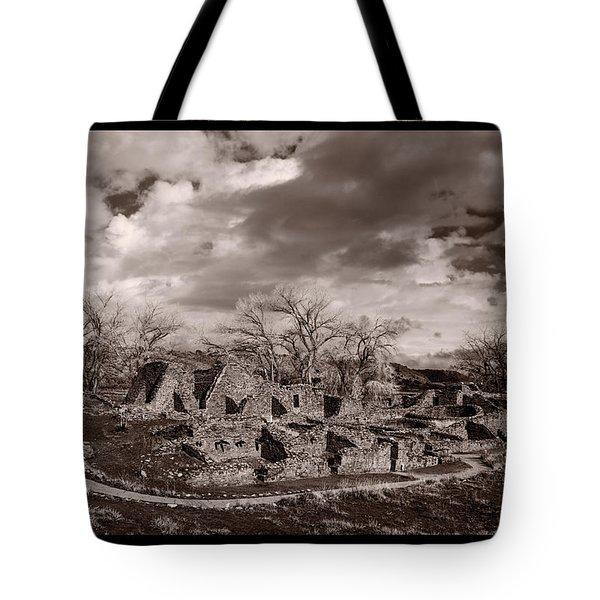 Aztec Ruins National Monument Tote Bag by Steve Gadomski
