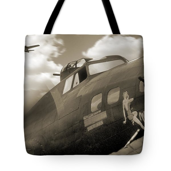B - 17 Memphis Belle Tote Bag by Mike McGlothlen