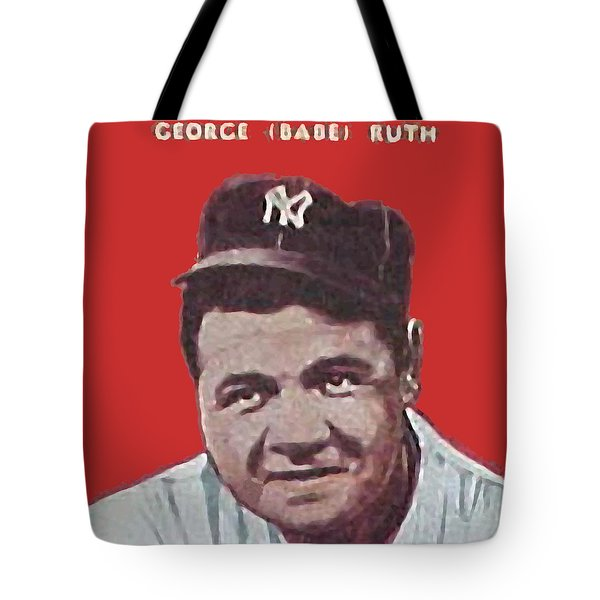 Babe Ruth Tote Bag by Paul Van Scott