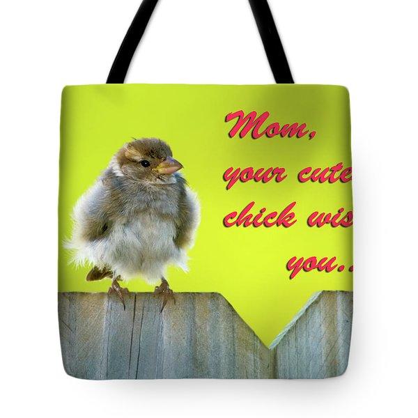 Baby bird Tote Bag by Betty LaRue