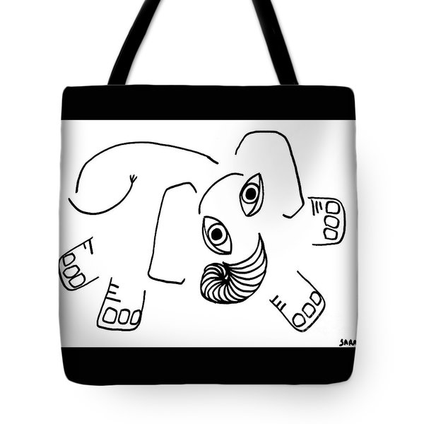 Baby Elephant Tote Bag by Sarah Loft