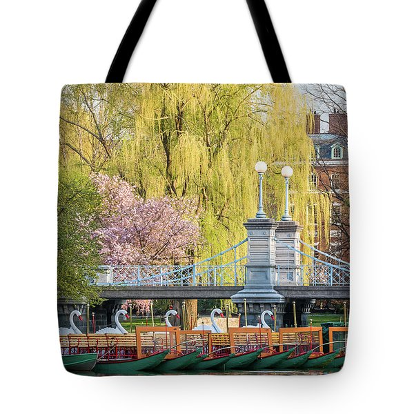 Back Bay Swans Tote Bag by Susan Cole Kelly