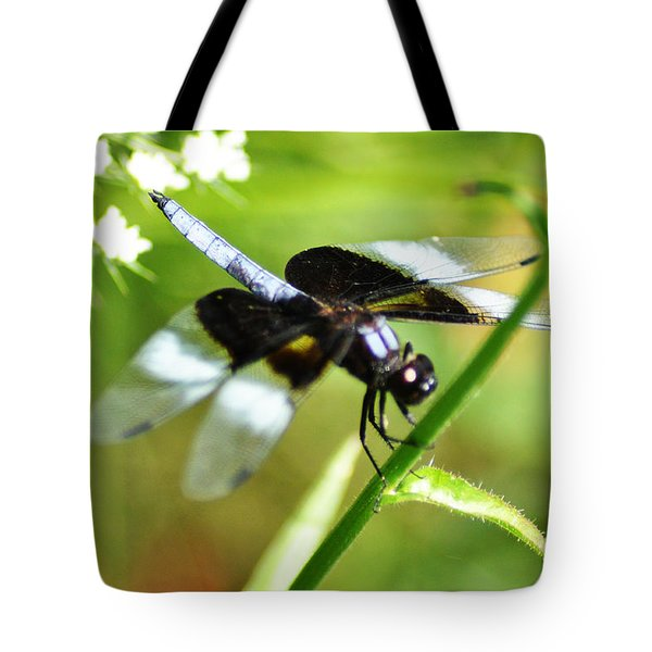 Back In Black - Black Dragonfly Tote Bag by Bill Cannon