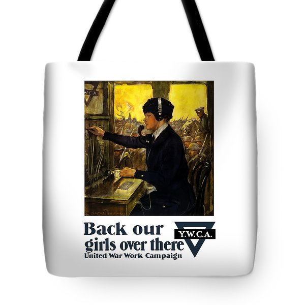 Back Our Girls Over There Tote Bag by War Is Hell Store