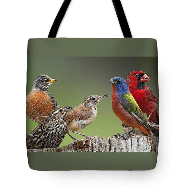 Backyard Buddies Tote Bag by Bonnie Barry