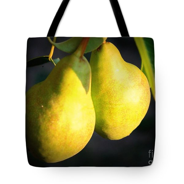 Backyard Garden Series - Two Pears Tote Bag by Carol Groenen