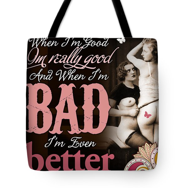 Bad Seven Tote Bag by Chris Andruskiewicz