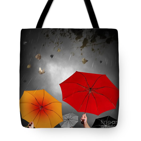 Bad Weather Tote Bag by Carlos Caetano