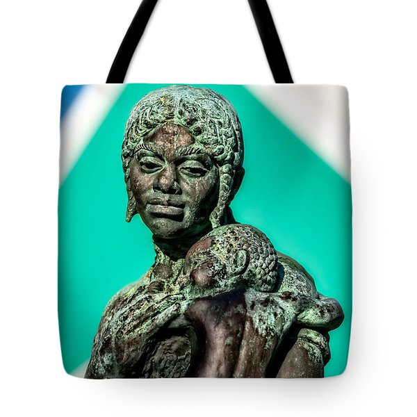 Bahamian Mother And Child Tote Bag by Christopher Holmes