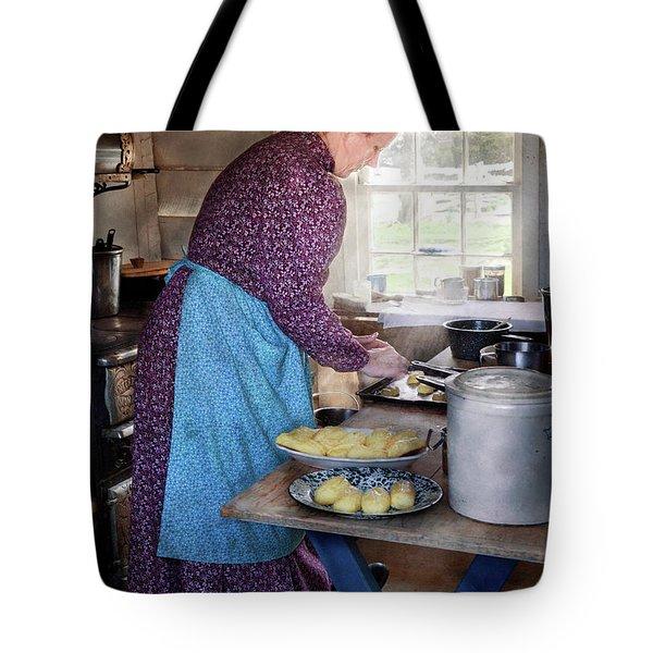 Baker - Preparing Dinner Tote Bag by Mike Savad