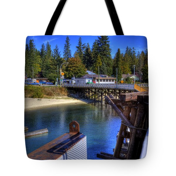 Balfour Bc Docks And Ferry  Tote Bag by Lee  Santa