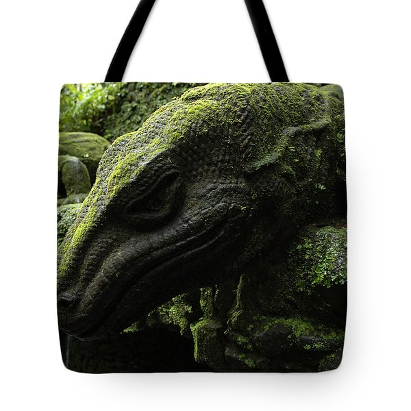 Bali Indonesia Lizard Sculpture Tote Bag by Bob Christopher