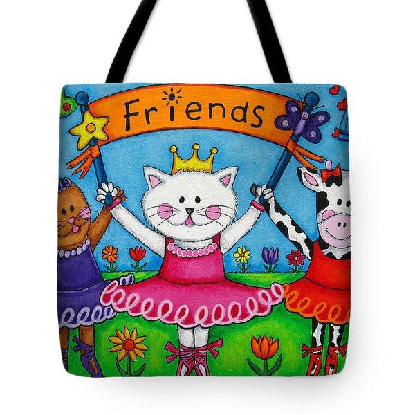 Ballerina Friends Tote Bag by Lisa  Lorenz